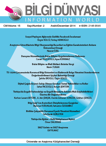 Cilt 15 Sayı 2 (2014)