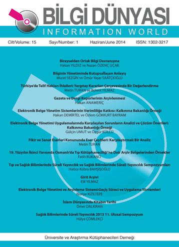 Cilt 15 Sayı 1 (2014)