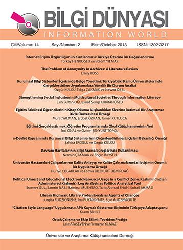Cilt 14 Sayı 2 (2013)