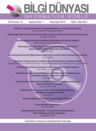 Cilt 13 Sayı 1 (2012)