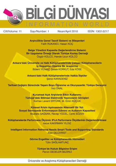Cilt 11 Sayı 1 (2010)