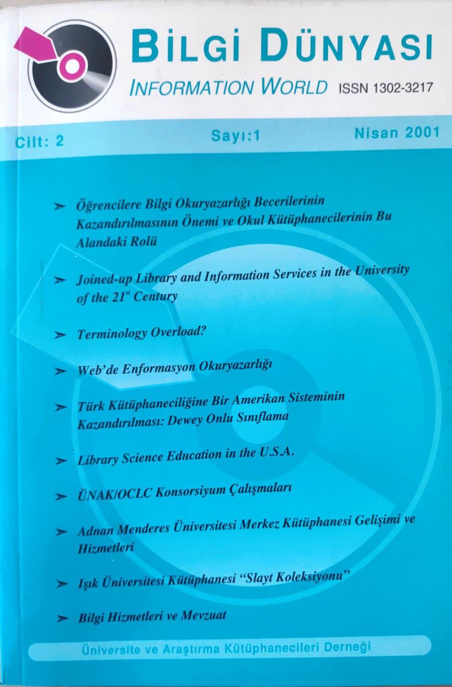 Vol. 2 No. 1 (2001)